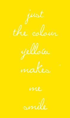 Happy Yellow=Smile!