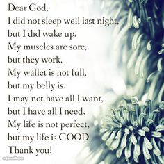 A prayer when you forget how blessed you really are.