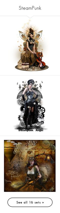 """""""SteamPunk"""" by victorianheaven ❤ liked on Polyvore featuring art"""