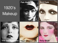 Bilderesultat for 1920 makeup look