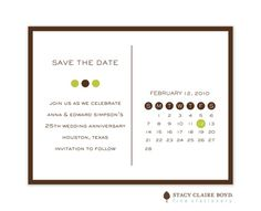 Stacy Claire Boyd | 30% Off Save the Dates | Tall Dot Earth Save The Date (SCB) | Note Worthy
