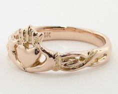 Gold Claddagh Ring Irish Wedding/Friendship