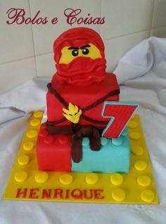 Bolos e coisas - Bolos decorados (Cake Design): Lego * Bolo Ninjago vermelho