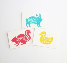 Animal Thank You Cards (Set of 6)