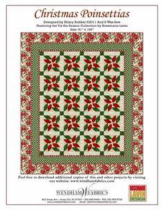 Christmas Poinsettias by Hilary Bobker