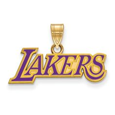 58934866 NBA Los Angeles Lakers Large Logo Pendant in Sterling Silver. Major League  Jewelry