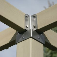 Aluminum Pergola, Wood Pergola, Pergola Canopy, Diy Gazebo, Canopy Outdoor, Garden Fence Panels, Fence Gate, Tiki Bar Decor, Small Fence