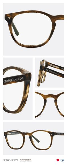 The old world is new again with the Giorgio Armani Frames of Life collection, a fresh take on a classic round shape. This pair features a keyhole bridge and sleek rivets, adding to its subtle style.