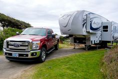 Earlier this year, my family decided we wanted to buy a new camper. We began considering the purchase of a fifth wheel; however, the question… 5th Wheel Toy Hauler, 5th Wheel Trailers, 5th Wheel Camper, Fifth Wheel Campers, Camper Repair, Towing Vehicle, Best Gas Mileage, Thing 1, 5th Wheels