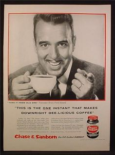 Magazine Ad For Chase & Sanborn Coffee, Tennessee Ernie Ford, Celebrity Endorsement, 1956