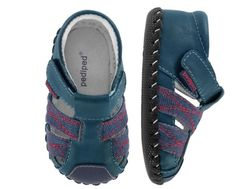 Pediped Originals Jake Navy Blue Red Infant Shoes XS 0-6 Months