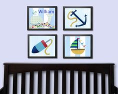 Nursery Art Print Children's PRINT  Set of Four with by justbunch, $59.00