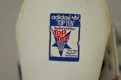 Vintage Hi top Adidas Basketball Top Ten by TheNewtonLabel on Etsy