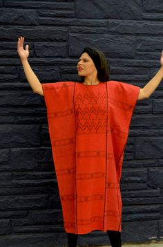 Hand Woven Red Amuzgo Huipil Oaxaca Mexico Gorgeous!