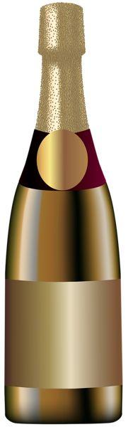 Elegant Champagne Bottle PNG Clip Art Image