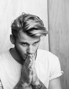 Sonny Henty hair beard white shirt tumblr Style men