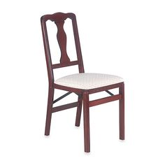 Queen Anne Wood Folding Chair - BedBathandBeyond.com