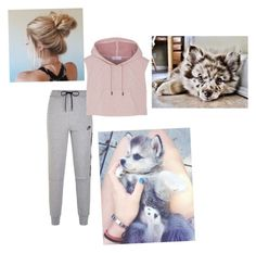 """""""Sleeping in with my new puppies"""" by mendesmusicforever ❤ liked on Polyvore featuring NIKE and adidas"""
