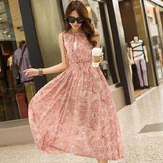 Buy 'Hanee – Patterned Maxi Dress' with Free International Shipping at YesStyle.com. Browse and shop for thousands of Asian fashion items from China and more!