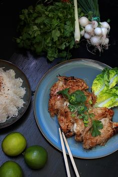 Thai chicken with lemon - Cuisine Salée - Asian Recipes Cooking Wild Rice, New Cooking, Cooking Chef, Healthy Cooking, Cooking Recipes, Thai Chicken, Lemon Chicken, Chinese Chicken, Bento Recipes