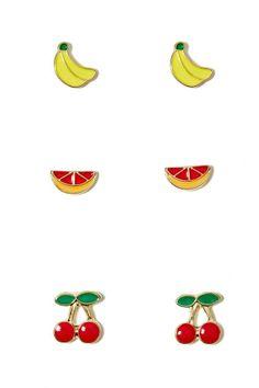 Fruit Tart Earring Pack