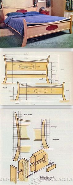 Maple Bed Plans - Furniture Plans and Projects   WoodArchivist.com