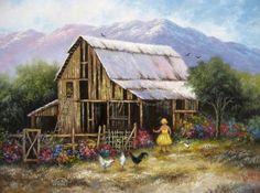 Bright Day Barn  ~ Vickie Wade art