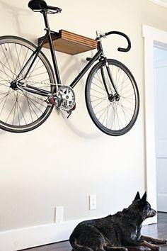 Organization Inspiration: Small Hallway Storage Projects That Make a Big Difference - HALLWAY - Hallway Storage Projects for Narrow Small Spaces Indoor Bike Storage, Bike Storage Rack, Bike Storage Small Space, Indoor Bike Rack, Small Storage, Small Apartments, Small Spaces, Garage Apartments, Diy Bike