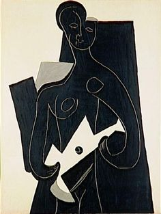 """Woman with Guitar"" Pablo Picasso, 1924 Pablo Picasso Sculptures, Pablo Picasso Drawings, Art Picasso, Pablo Picasso Quotes, Picasso Paintings, Modern Drawing, Modern Art, Picasso And Braque, Greek Art"