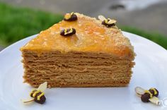 Russian Honey Cake This recipe, for the Honey Cake, always gets a lot of compliments. It is never dry, never becomes mushy and has a nice flavor of honey and caramel.