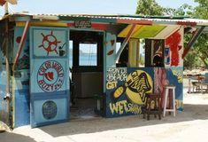 Jamaica is full of little bars about the size of an average shed. The Jamaican beaches are surrounded by beach bars that stock both warm and cold beer. Pool Side Bar, Container Bar, Beach Wedding Locations, Shop Facade, Outside Bars, Beach Shack, Beach Bars, Outdoor Projects, Surf Shop