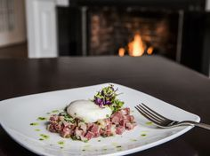 Tuna Tartare by the fire at Chatham Wine Bar and Restaurant #foodie #capecod
