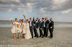 The wedding party on the beach! Easy-Going Island Wedding at The King and Prince | St. Simons Island, Georgia | Bobbi Brinkman Photography
