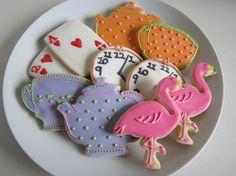 Alice in Wonderland Sugar Cookies by ALittleBitOfParis on Etsy, $25.00