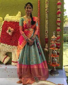 Lehenga Saree Design, Half Saree Lehenga, Lehenga Choli Online, Lehenga Designs, Anarkali, Lehnga Dress, Saree Blouse, Half Saree Designs, Sari Blouse Designs