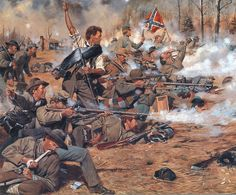 American Civil War Art Oil Painting Print On Canvas Home Decor Military Art, Military History, Military Uniforms, American Civil War, American History, Civil War Art, Southern Heritage, Southern Pride, Confederate States Of America