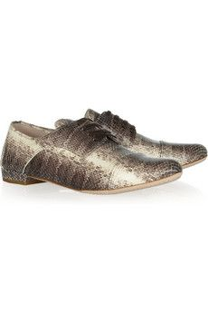 611cfb35fae4 Miu Miu Snake-effect leather brogues
