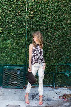 Top + Jeans + Clutch via @marshalls | #fabfound