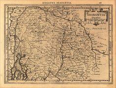 Kaart (1632) van het Hertogdom Brabant met vermelding van het Kempenland, door Mercator, uitgave van Johannes Cloppenburch. Origineel exemplaar te vinden in de Universiteitsbibliotheek Amsterdam (Atlas Minor3: UBA 1803 D 7 (1632)) .
