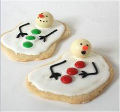 Cookies Boneco de Neve derretendo