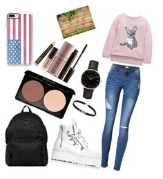 """""""#SOCUTE😙"""" by anisiabt on Polyvore featuring beauty, Puma, Hogan, Laura Mercier, Casetify and Topshop"""