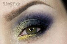'Summer Night' look by Wrzosowisko using Makeup Geek's Bling, Corrupt, Peacock, Pixie Dust, and Shimmermint eyeshadows.