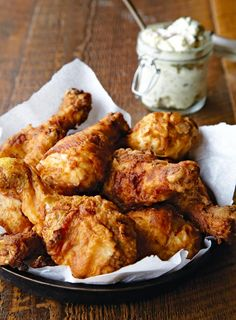 "Nashville Hot Fried Chicken Recipe - Tester Larry Noak says ""his Nashville hot fried chicken recipe is a GREAT chicken dish. I stuck to the recipe exactly and the results were stellar. I used a sauce called El Yucateco. If you like HOT, you will LOVE this!"" Read more at http://leitesculinaria.com/94947/recipes-nashville-hot-fried-chicken.html#4fh5tVD803OW05Ts.99