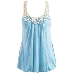Crochet Contrast Top - Teen Clothing by Wet Seal
