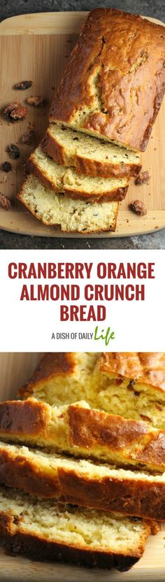 Cranberry Orange Almond Crunch Bread...delicious for snacking! #ad #CVSSnackHacks @CVSPharmacy.