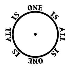 All is one, One is All, from FMA. An eloquent way of saying everything is connected.