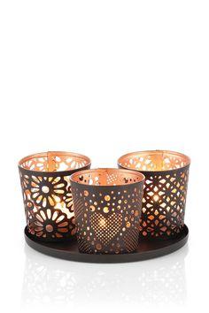 Esprit / metal tealight holder set