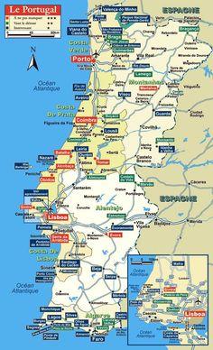 carte de Portugal