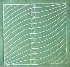 The Free Motion Quilting Project: Day 356 - Feather Band