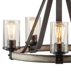 Shop Kichler Lighting Barrington 3-Light Anvil Iron and Driftwood Chandelier at Lowes.com